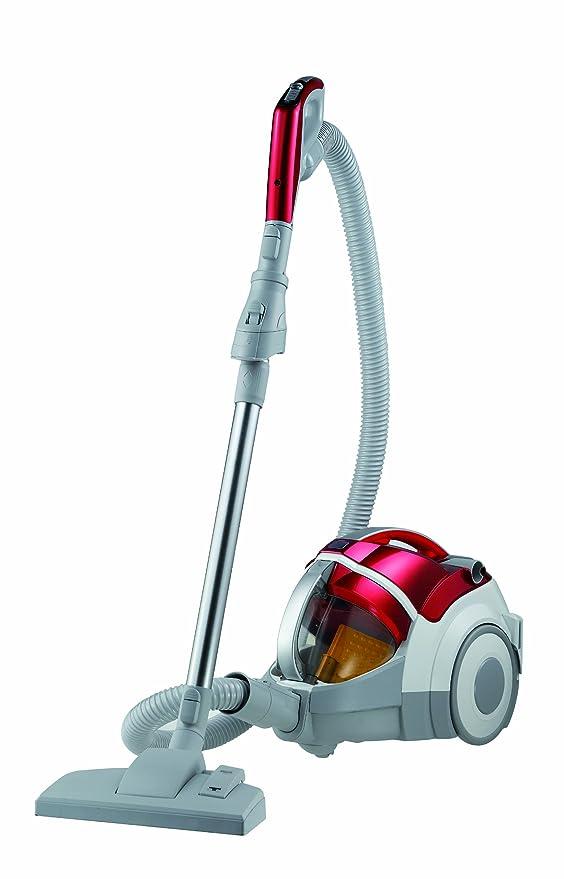 LG VK 9820 NHAQT - Aspirador de trineo sin bolsa (2000W, 2.2L, Filtro Hepa 13 Lavable, Accesorio cepillo para parket), color rojo