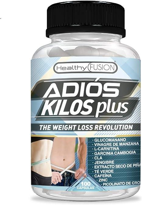Image ofAdiós Kilos Plus | La revolución en pérdida de peso | Potente e innovador adelgazante | Reductor del apetito | Quemagrasas eficaz | Estimulante natural del metabolismo | 100 cápsulas vegetales