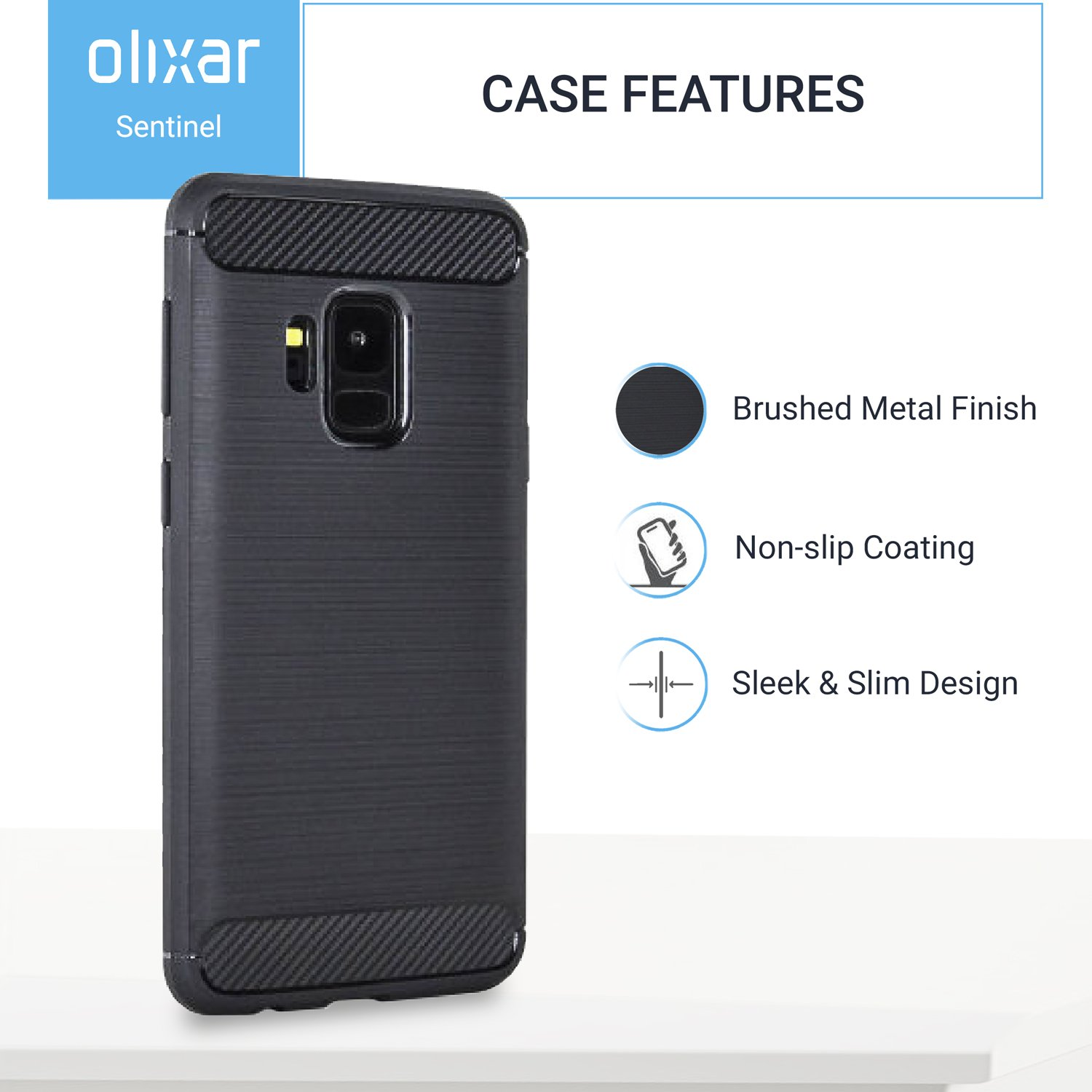 Olixar Samsung Galaxy S9 Case With Screen Protector Cell Phone Shield Charger 360 Degree Full Body Cover Edge To Tempered Glass Front And Back Tough Rugged Protection Wireless Charging Compatible