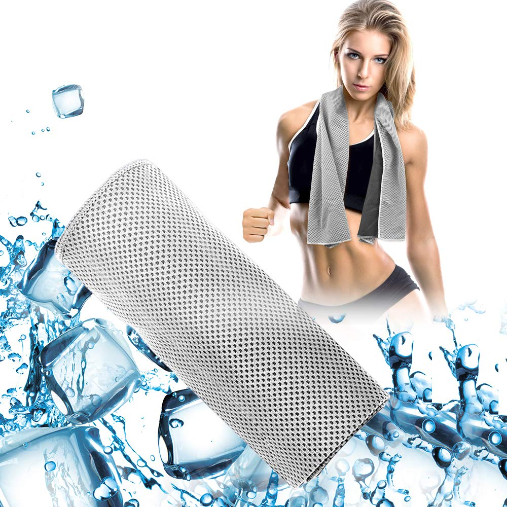 ZOUYUE Cooling Towel, Cool Towel for Instant Relief Ice Cold Scarf for Gym Camping Cooling Towels for Neck Cold Towel Yoga Towel