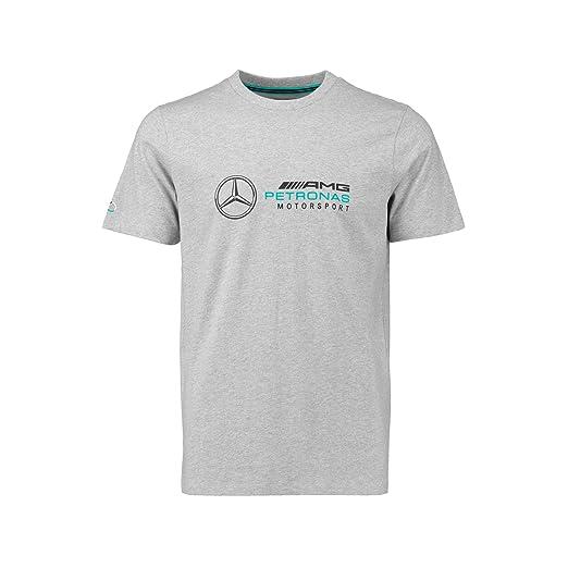 73a1100fa48 Amazon.com  Mercedes Benz AMG Petronas Formula 1 Men s Gray Logo T ...