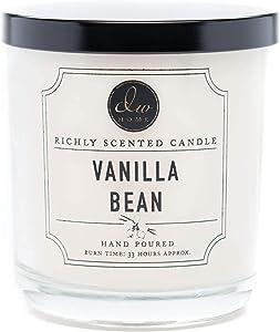 DW Home, Medium Single Wick Candle, Vanilla Bean
