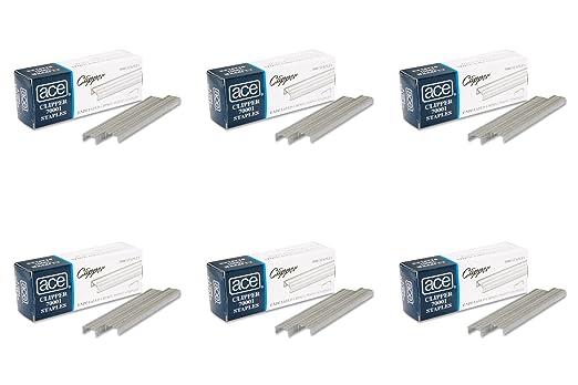 ACE oficina productos 70001 - Grapas, ondulado,, Para 07020 Clipper alicates, 5000/BX: Amazon.es: Oficina y papelería