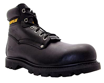 25ad34520782 Caterpillar Size 12 Men's Sheffield Formal Black Leather Steel Toe Safety  Work Boots: Amazon.co.uk: Shoes & Bags