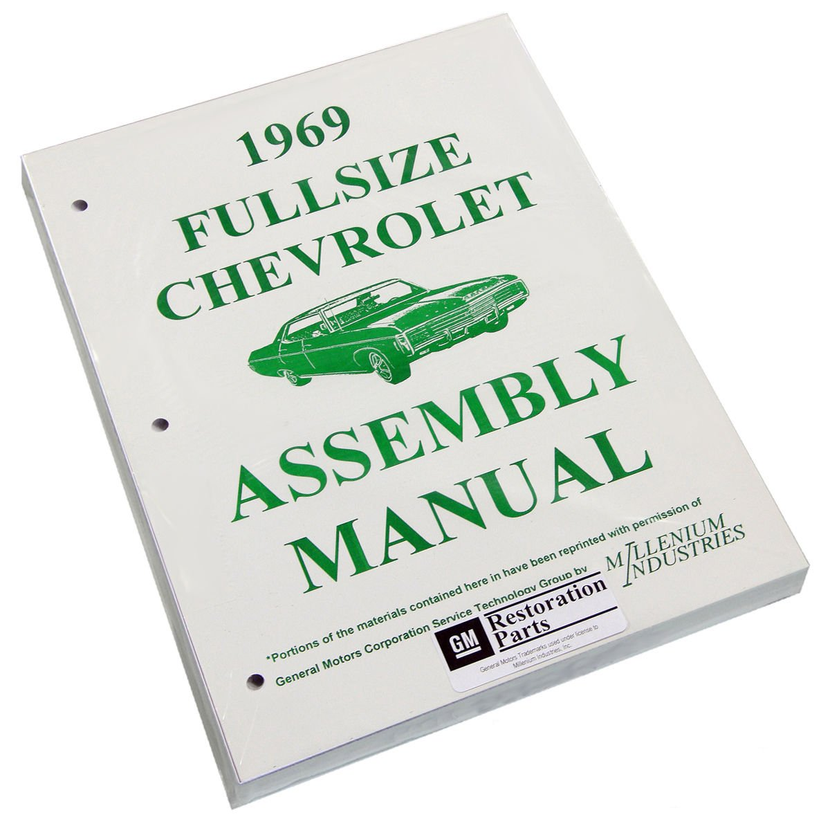 Inline Tube (I-2-13) Factory Assembly Manual for 1969 Full Sized Chevrolet Cars Bel Air, Impala, Wagons etc.