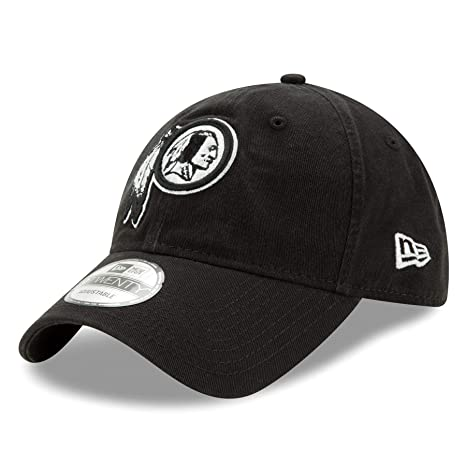 quality design 269ab ab75f Image Unavailable. Image not available for. Color  Washington Redskins New  Era NFL 9Twenty Twill Core Classic Adjustable Black Hat
