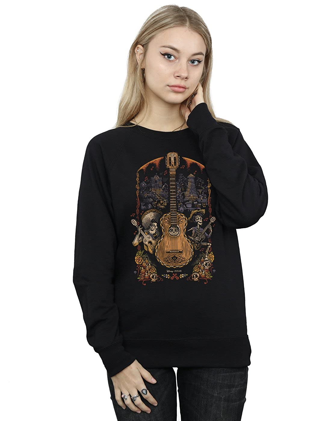 Disney Women's Coco Guitar Poster Sweatshirt Absolute Cult