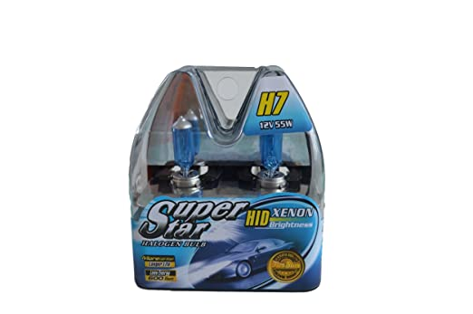 Amazon.com: SUPERSTAR H7 8500k Super White High Performance, Long Lasting Halogen Headlight Bulb, Xenon and HID Equivalent BRIGHT(Pack of 2): Automotive