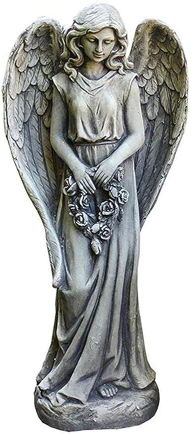 SculpturesQYZ Figuritas Figuras de colección Adornos Estatuas Esculturas Escultura de ángel Jardín Adorno de jardín Decoración de jardín Accesorios Entrada de jardín Decoración: Amazon.es: Hogar