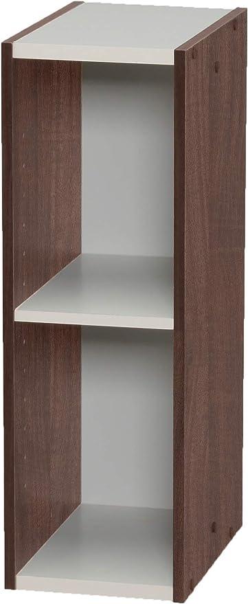 Marca Amazon - Movian Librería modular con 2 estantes en MDF, Marrón, 20 x 29 x 60 cm
