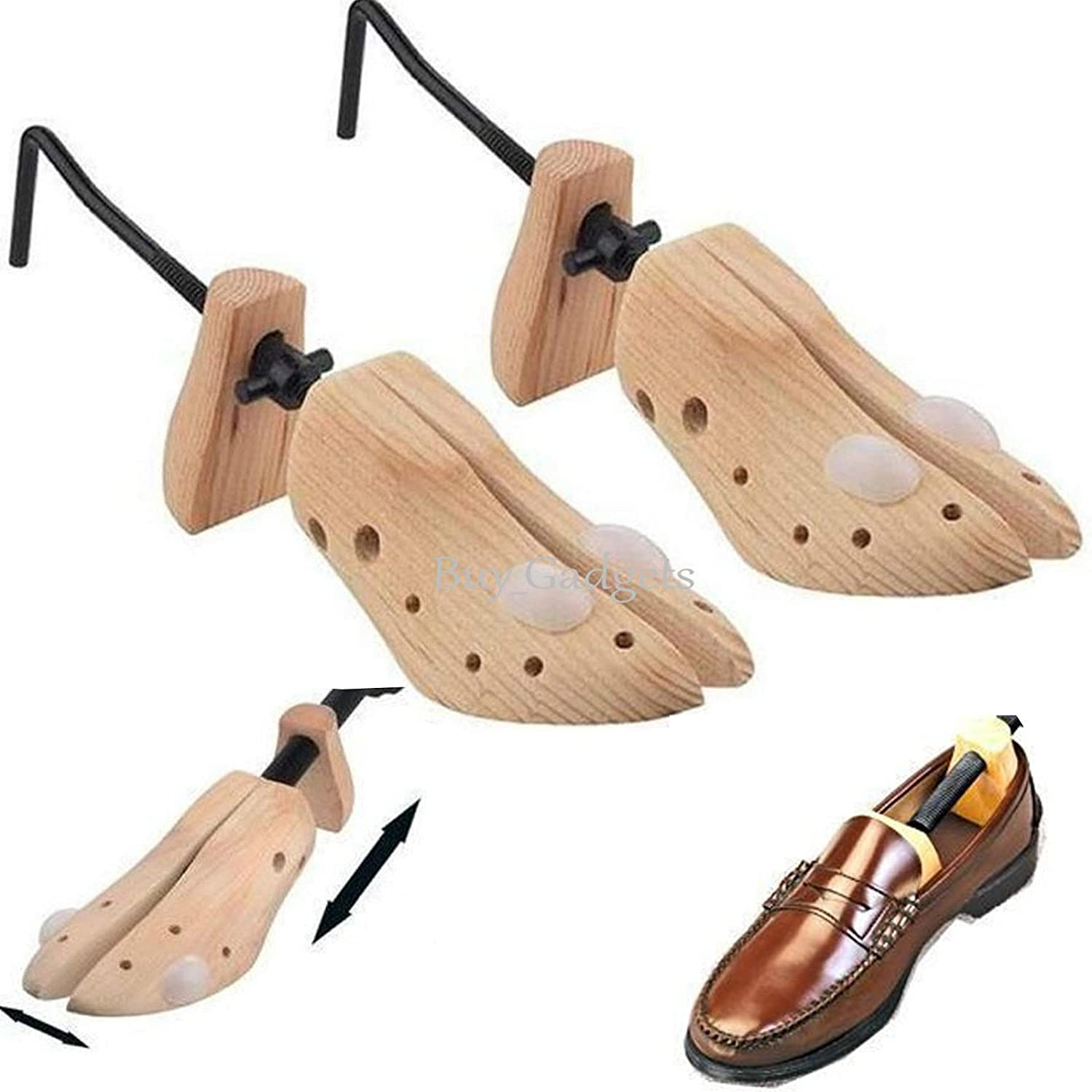 2 x MENS GENTS SHOE STRETCHERS TREE WOODEN SHAPER BUNION CORN BLISTER SIZE 6-12 unknown