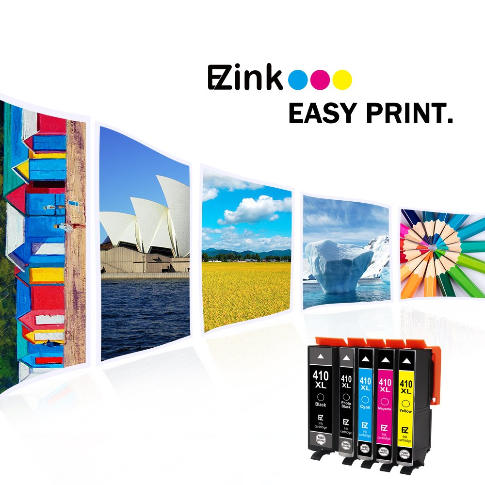 E-Z Ink (TM) Remanufactured Ink Cartridge Replacement for Epson 410XL 410 XL to use with Expression XP-530 XP-630 XP-635 XP-640 XP-830 (1 Black, 1 Cyan, 1 Magenta, 1 Yellow, 1 Photo Black) 5 Pack by E-Z Ink (Image #7)