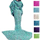 Amazon Price History for:Fu Store Mint Green Mermaid Tail Blanket For Kids Teens Adult Handmade Wave Mermaid Blankets Crochet Knitting Blanket Seasons Warm Soft Sleeping Bag Best Gift for Birthday Christmas 71''x35''