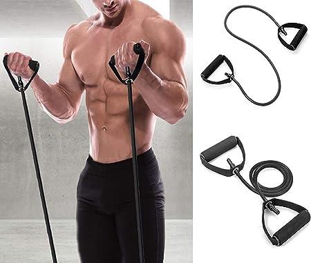 Mosie Banda de resistencia única para fitness con asas de anclaje de puerta, correas de tobillo – bandas elásticas para entrenamiento de resistencia, ...