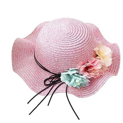 iBaste Niños Chica Sombrero Sombreros Gorros de Forma de Onda Flexible Verano Sombrero de Playa con