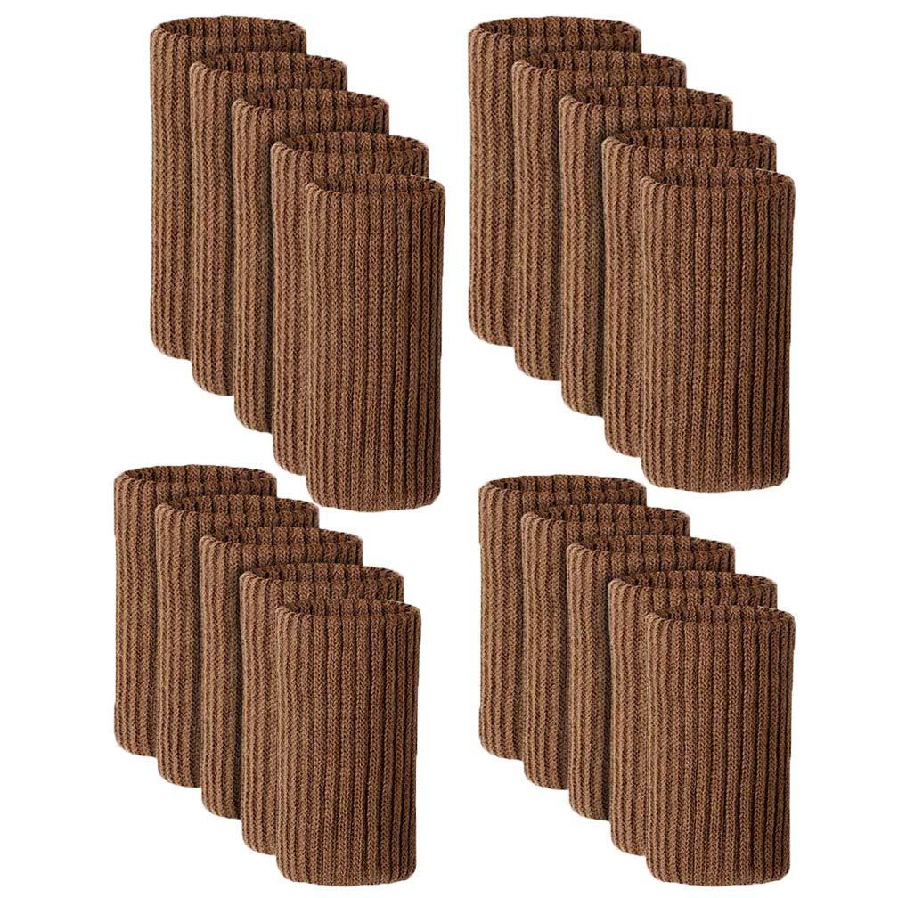 Black Cross Knitted Furniture Leg Feet Wood Floor Protectors Set TEKEFT 20PCS Chair Socks