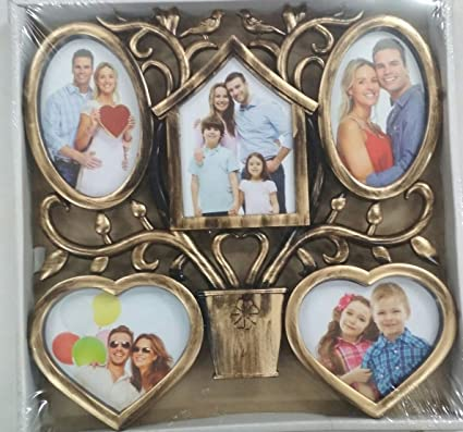 Buy Apsara Gift 5 Photo Collage With Heart Shape Photo Frame Online