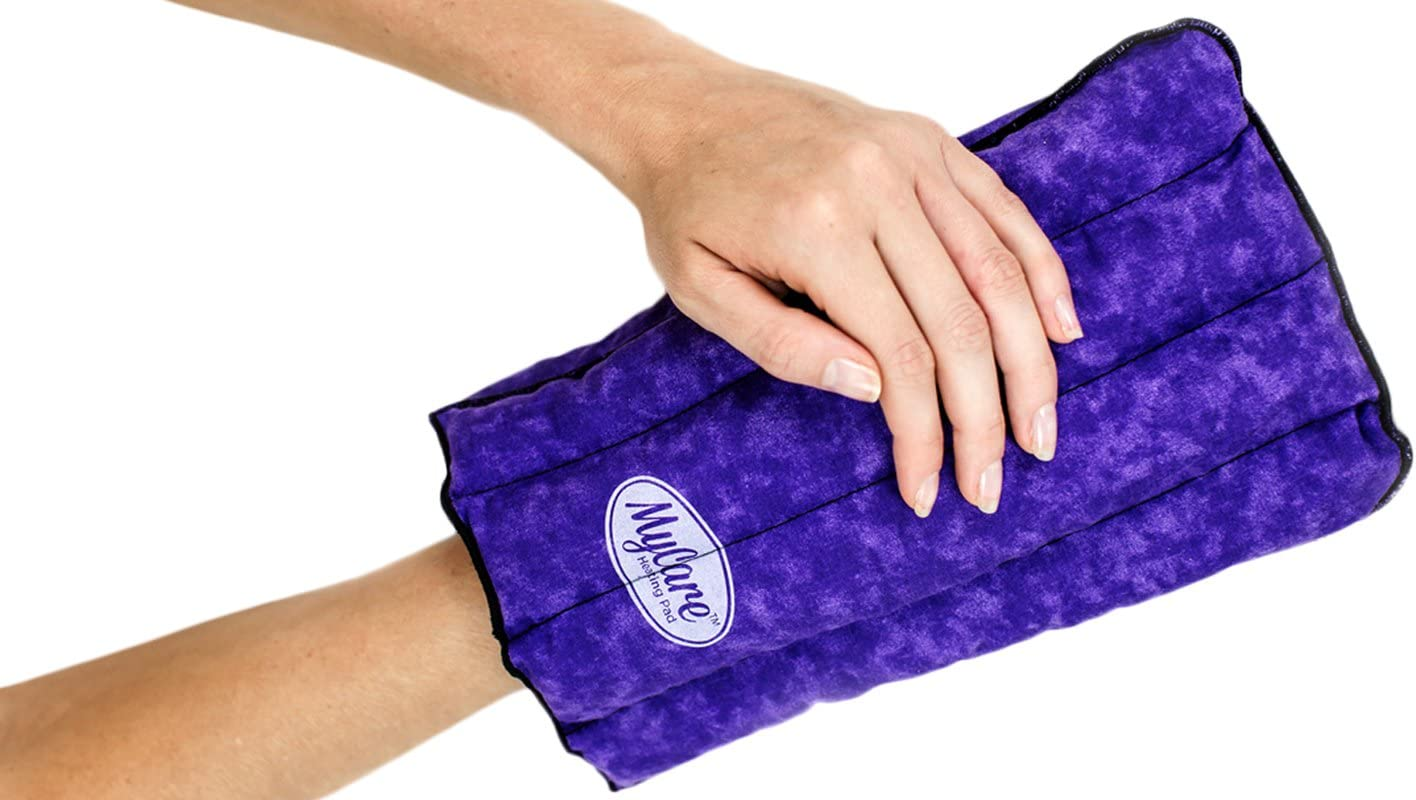 MyCare Heating Pad - Therapy Warming and Cooling Glove for Arthritis Stiff Soreness and Trigger Finger - Natural Pain Relief for the Hand from Moist Heat & Soothing Cold (Purple)