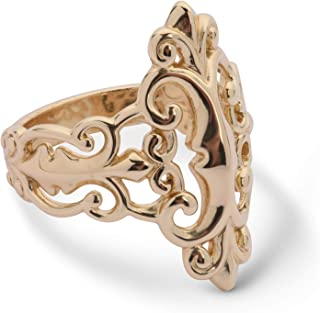 product image for Carolyn Pollack Sterling Silver 14K Gold Plated Open Work Filigree Ring Sizes 5