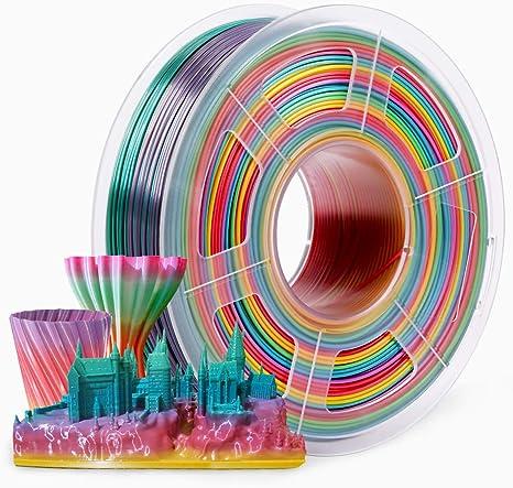3d Printer Filament 1.75mm,PLA Filament 1KG Spool,Rainbow ...