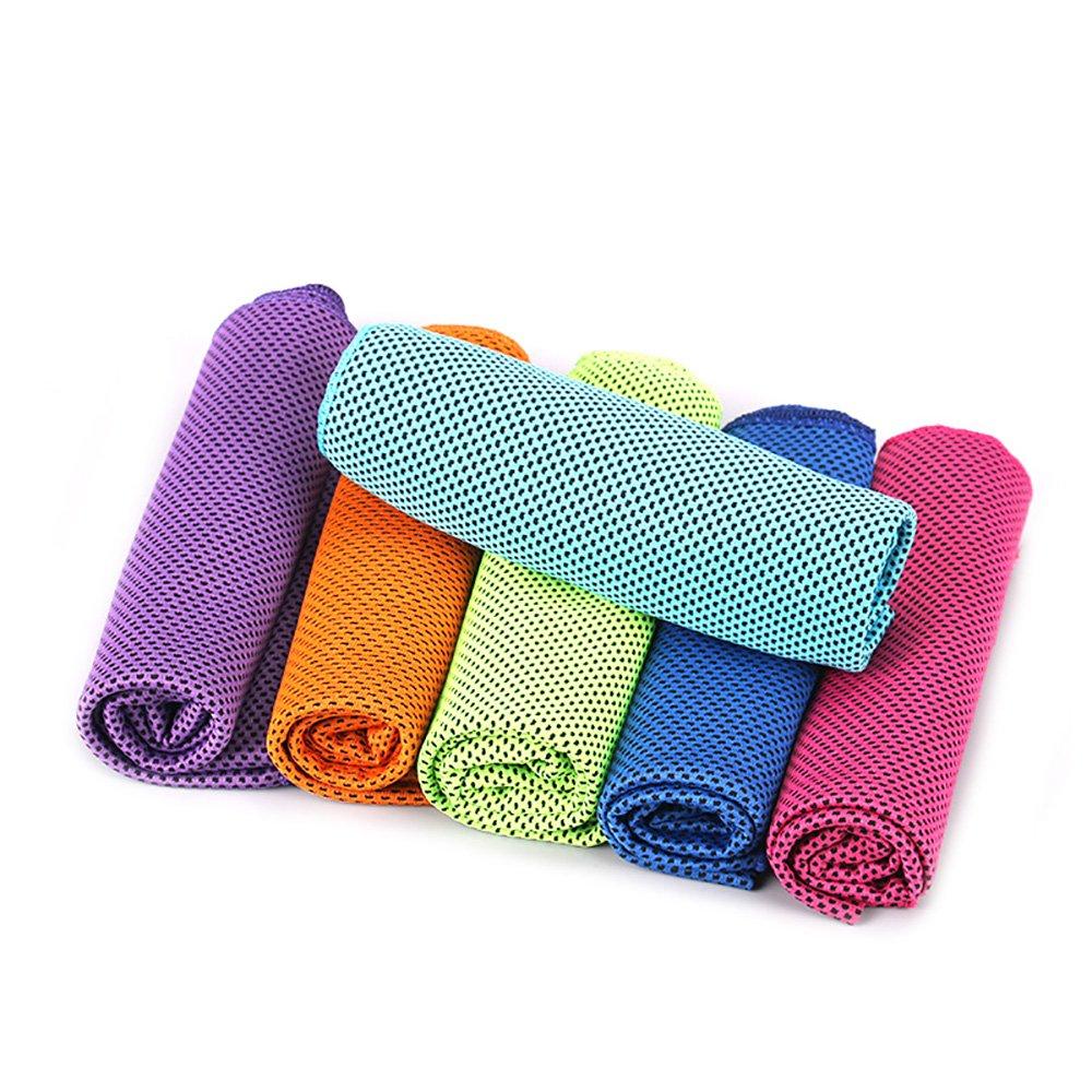 Ya Jin toallas de refrigeración de microfibra reutilizable absorbe transpirable toalla para ejercicio, Fitness, Running y otros deportes, verde