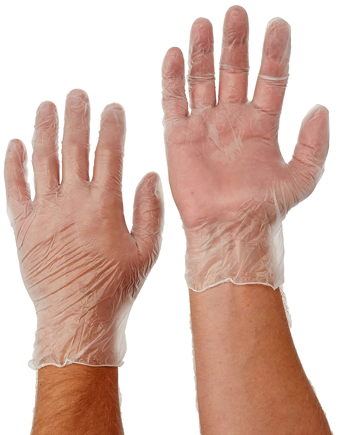 WEST CHESTER 2700/XL Vinyl Powdered 4 Mil Disposable Gloves, X-Large,  Clear, 100-Pack - Work Gloves - Amazon.com