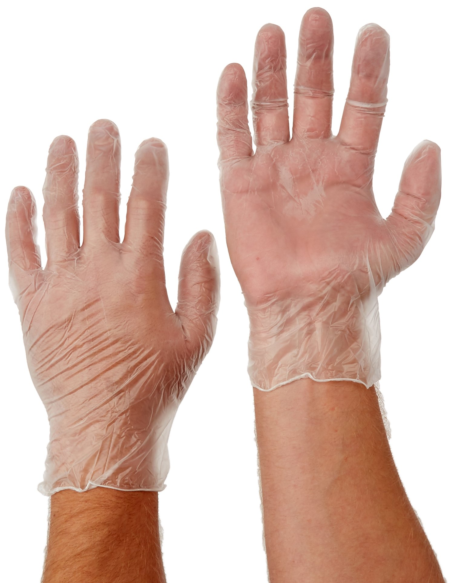 WEST CHESTER 2700/XL Vinyl Powdered 4 Mil Disposable Gloves, X-Large, Clear, 100-Pack