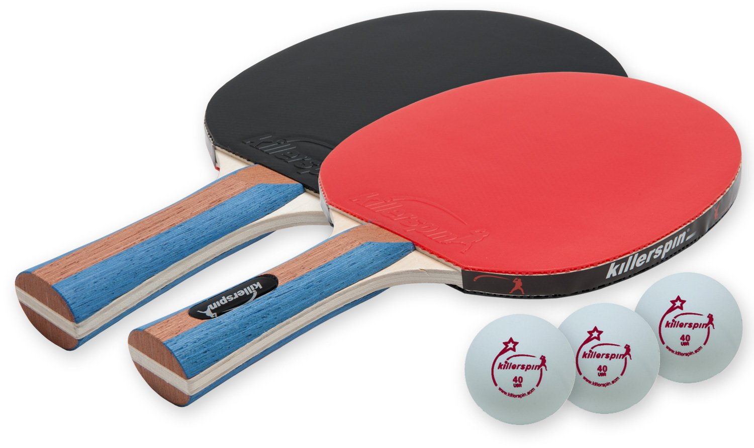 Killerspin JETSET 2 Premium Set - Table Tennis Set with 2 Ping Pong Paddles With Premium Rubbers and 3 Ping Pong Balls