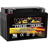 $23 » Weize YTX9-BS Battery Replacement Maintenance Free YTX9 ETX9 BS Batteries For Motorcycle ATV…