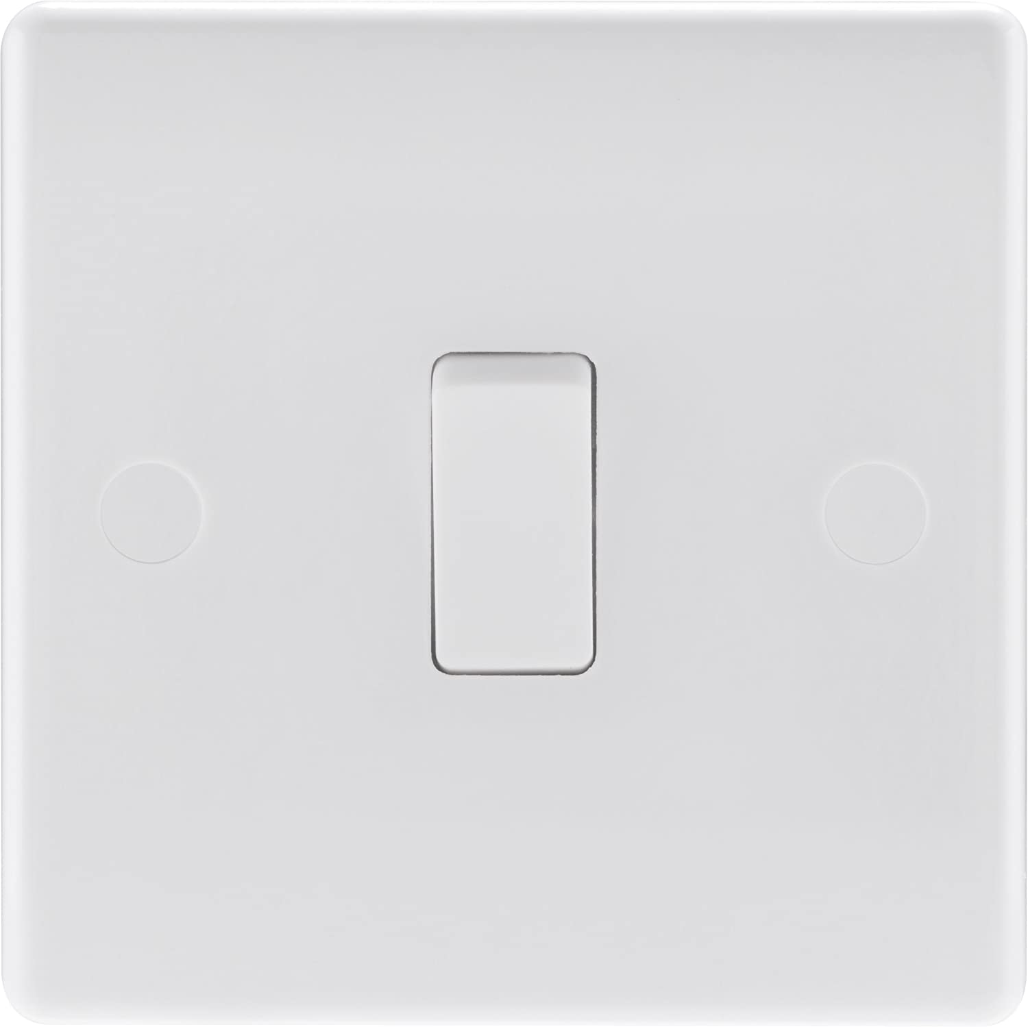 NEW 2 GANG WAY ELECTRIC LIGHT SWITCH WHITE PLASTIC DOUBLE SWITCHES.