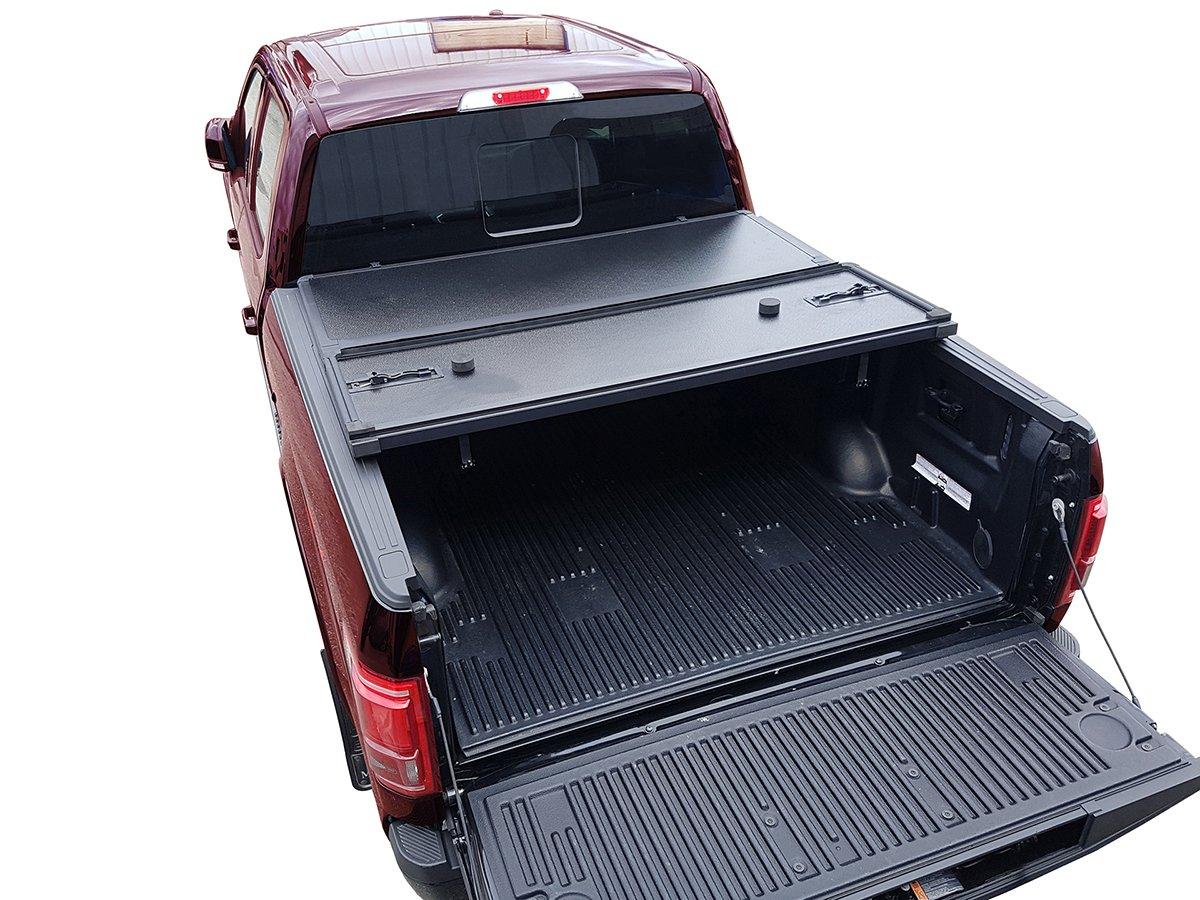 Galaxy Auto Hard Tri-Fold for 2003-19 Chevy Silverado//GMC Sierra 6.5 Bed Fleetside Models Only Black Trifold Truck Bed Tonneau Cover