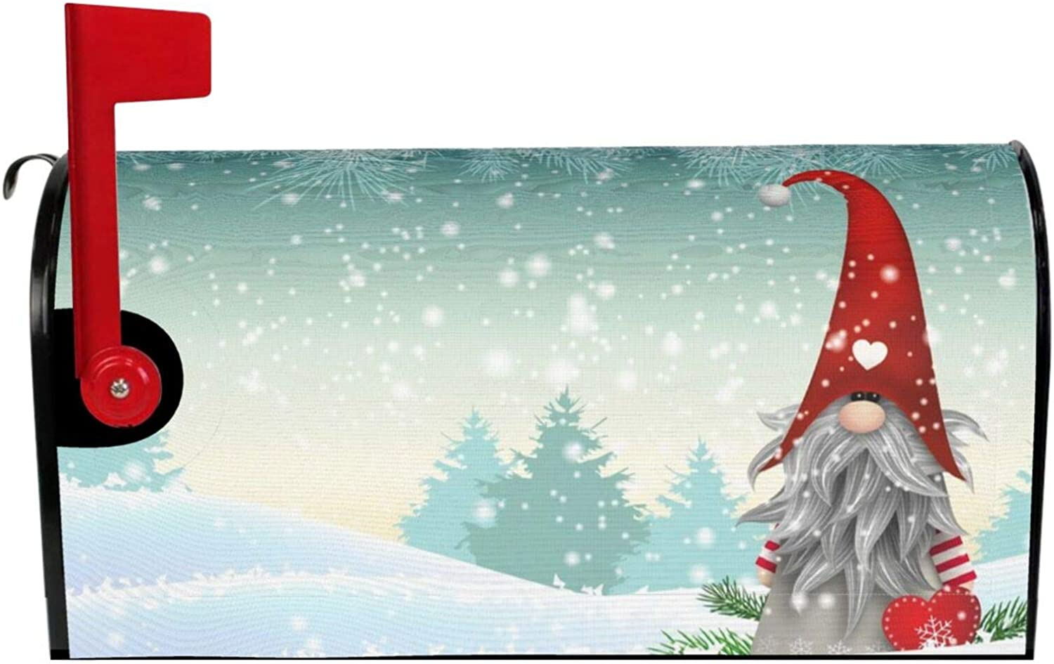 """MSGUIDE Merry Christmas Tree Santa Snowflake Magnetic Mailbox Cover Mailbox Wraps Post Letter Box Cover Garden Yard Home Decor for Outdoor Standard Size-18""""x 21"""""""