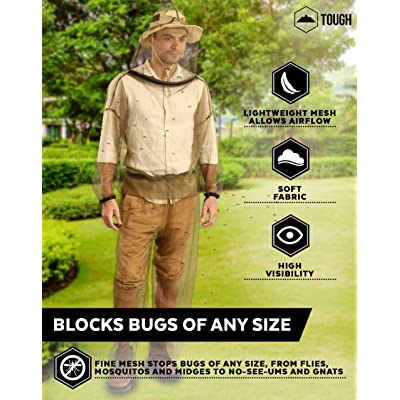 Netting Insect Proof Repellent Mosquito Suit Bug Jacket Hood Net Pants Clothing