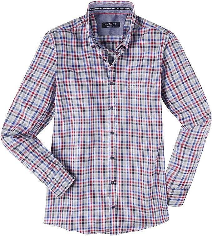 Casamoda Camisa a Cuadros Azul-Blanca-roja XXL, 2xl-8xl:4XL: Amazon.es: Ropa y accesorios
