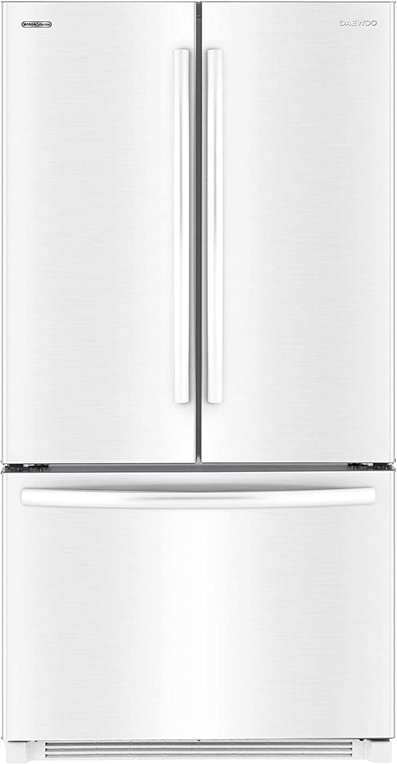 Daewoo RFS-26ABW French Door Bottom Mount Refrigerator, 26 Cu Ft, White, includes delivery and hookup