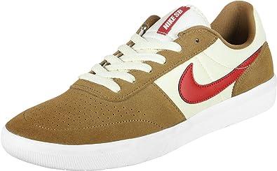 Amazon.com | Nike SB 'Team Classic' (Golden Beige/University red ...