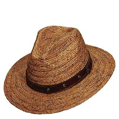 56afdd20ec0 Tommy Bahama Men s Burnt BRD Raffia Safari Hat S M Brown at Amazon ...
