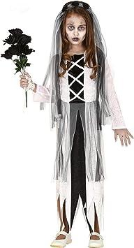 Guirca Disfraz de Novia Fantasma para niña: Amazon.es: Juguetes ...