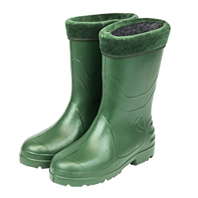 online store 55df0 49909 Damen Gefütterte Gummistiefel Regenstiefel Schuhe Eva grün ...