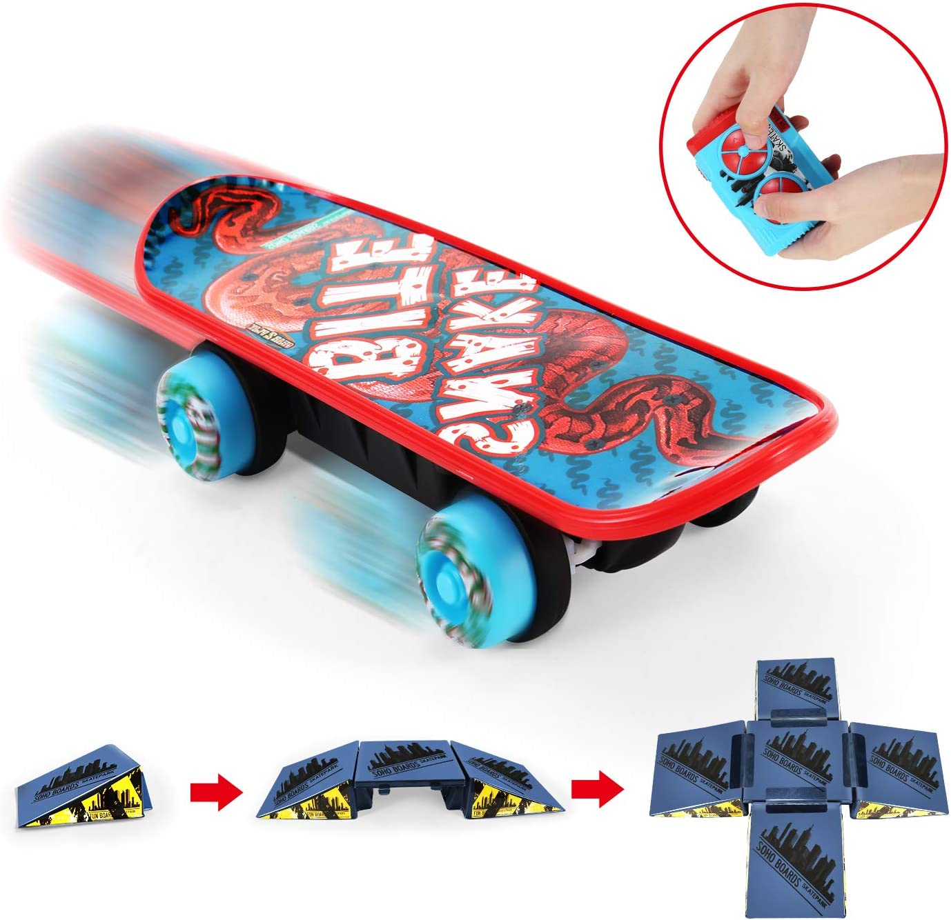 1 X Finger Board Skateboard Party Game Toy for Kids Education Toys Indoor LPLCA
