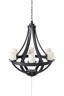 Amazon.com: Chatham Gazebo LED Outdoor Chandelier w/ Remote Control ...