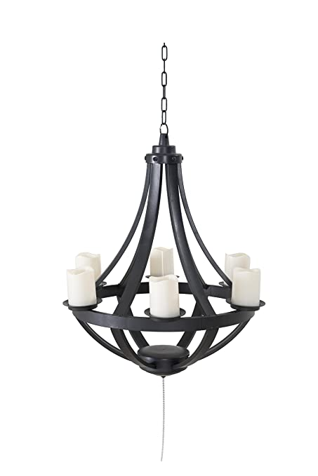 Sunjoy Francis Plastic Hanging Led Chandelier Battery Not Included Operated
