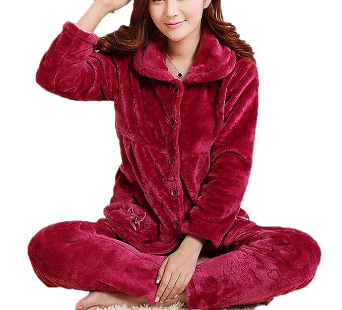 El Otoño Y El Invierno Gruesos Conjuntos De Prendas De Vestir Pijamas De Las Mujeres Pijamas