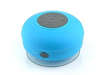 IProtect Bluetooth Badezimmer Lautsprecher Waterproof Wireless Speaker Blau  Mit Saugnapf Für Alle Bluetooth Fähigen Geräte