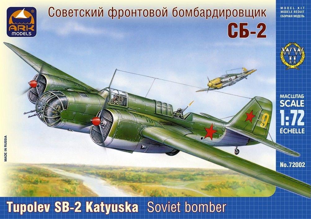 Ark models AK72002scala 1: 72 Tupolev sb-2Russian Bomber Plastic Model (M)