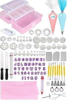 FONDANT TOOLS CAKE DECORATING SUPPLIES - 116pc baking kit, Icing Piping Bags, tips,