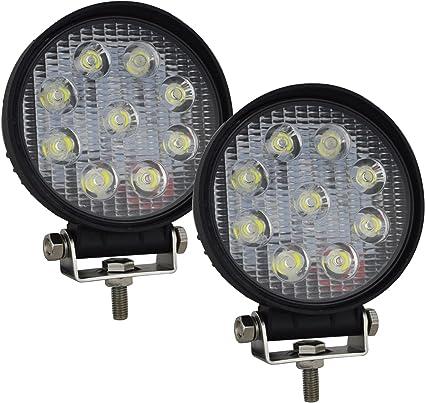 4 x 27w 9 LED travail phares terrain phares 12v 24v