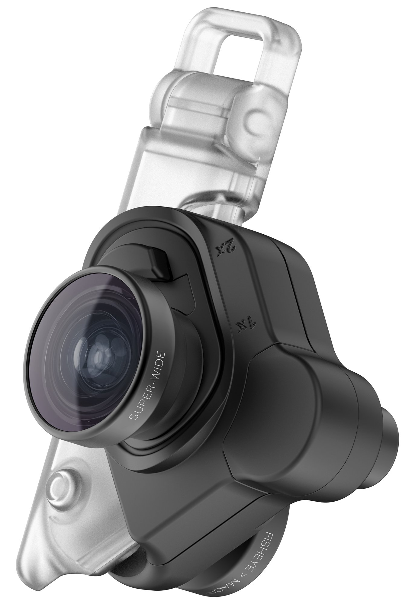 sports shoes 4f875 a3e48 olloclip Mobile Photography Box Set for iPhone X - Cell Phone Camera Lens  Attachment - Black Lens/Black Clip On - Includes Fisheye, Super-Wide, Macro  ...