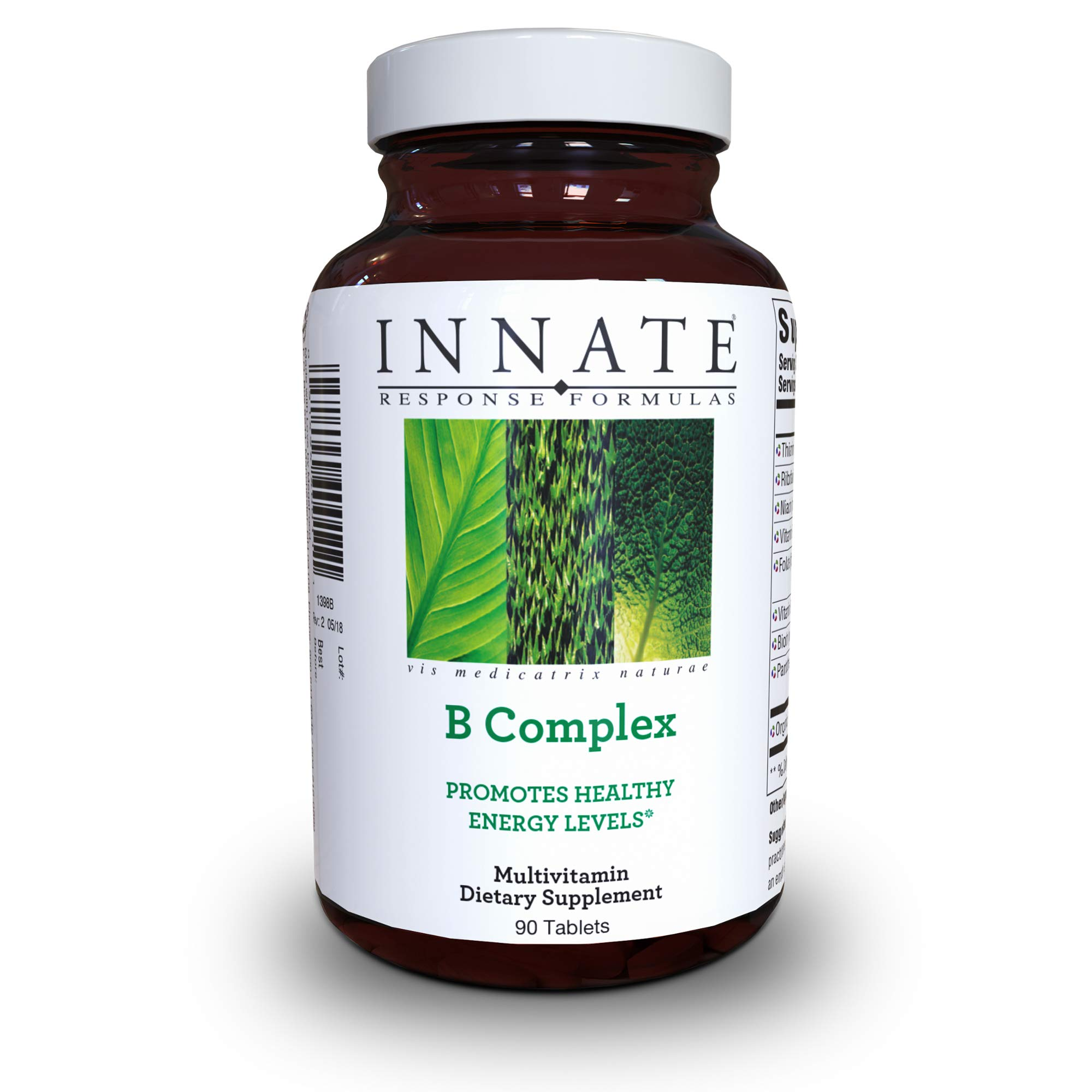 INNATE Response Formulas - B Complex, Promotes Energy and Health of the Nervous System, 90 Tablets by INNATE Response Formulas