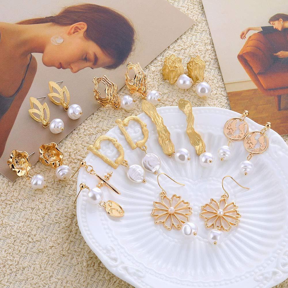 Vintage Irregular Freshwater Pearl Dangle Earrings For Women Brincos Geometric Drop Earring DIY Wedding Party Jewelry (E818)